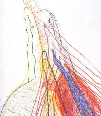 90 041 color pencil appr.35x30