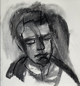 D 2019 043 Charcoal and pastel 70 x 75 s